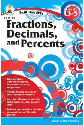 Carson Dellosa Fractıons, Decımals And Percents gr 3-5