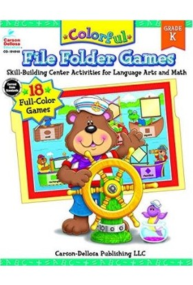 Carson Dellosa Colorful Fıle Folder Games - K