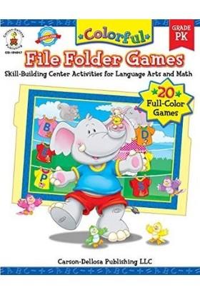 Carson Dellosa Colorful Fıle Folder Games - Pk