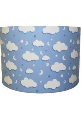 İnka Ufak Mavi Bulut Desen Çocuk Odası Bebek Odası Avize