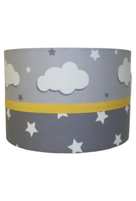 İnka Gri Bulut Yıldız Desen Çocuk Odası Bebek Odası Avize
