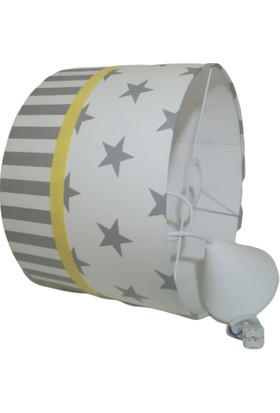 İnka Aydınlatma Yıldız Çizgili Desen Bebek Odası Çocuk Odası Avize