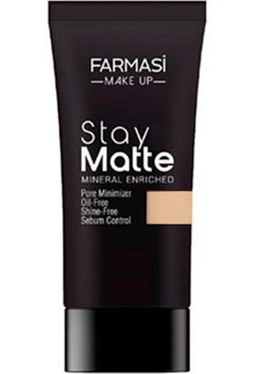 Farmasi Make Up Stay Matte Fondöten 30 ml Sand BEIGE-04-1302495