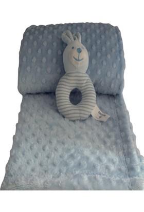 Aksu İpeksoft Çıngırak + Bebek Battaniyesi