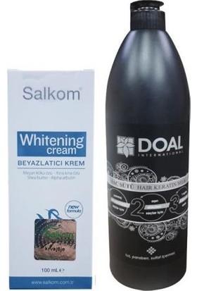Salkom Beyazlatıcı Krem 100 ml + Doal Keratin Bakım Sütü 1000 ml