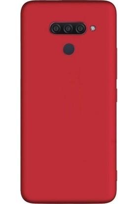 Tekno Grup LG Q60 Kılıf Mat Premium Silikon Kılıf - Kırmızı