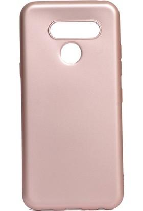 Tekno Grup LG Q60 Kılıf Mat Premium Silikon Kılıf - Rose
