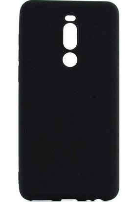 Tekno Grup Meizu Note 8 Kılıf Mat Premium Silikon Kılıf - Siyah