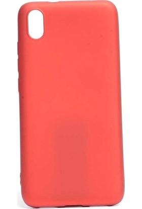Tekno Grup Xiaomi Redmi 7A Kılıf Mat Premium Silikon Kılıf - Kırmızı