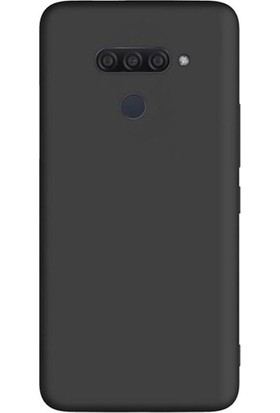 Tekno Grup LG Q60 Kılıf Mat Premium Silikon Kılıf - Siyah + Cam Ekran Koruyucu