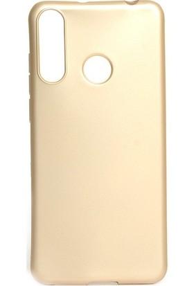 Tekno Grup Casper Via F3 Kılıf Mat Premium Silikon Kılıf - Gold + Cam Ekran Koruyucu