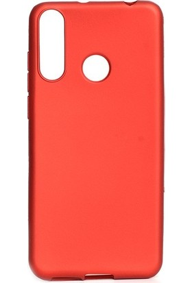Tekno Grup Casper Via F3 Kılıf Mat Premium Silikon Kılıf - Kırmızı + Cam Ekran Koruyucu