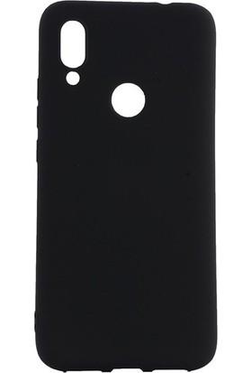 Tekno Grup Meizu Note 9 Kılıf Mat Premium Silikon Kılıf - Siyah + Cam Ekran Koruyucu