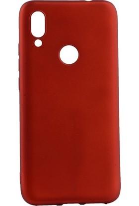 Tekno Grup Meizu Note 9 Kılıf Mat Premium Silikon Kılıf - Kırmızı + Cam Ekran Koruyucu