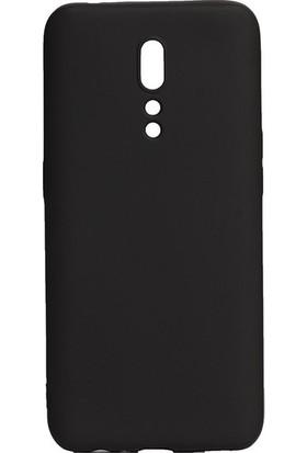Tekno Grup Oppo Reno Z Kılıf Mat Premium Silikon Kılıf - Siyah + Cam Ekran Koruyucu