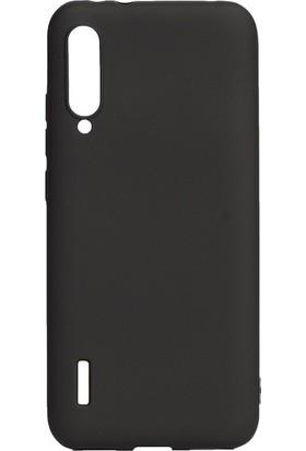 Tekno Grup Xiaomi Mi A3 Kılıf Mat Premium Silikon Kılıf - Siyah + Cam Ekran Koruyucu