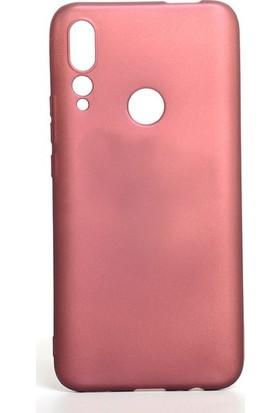 Tekno Grup Huawei P Smart Z Kılıf Mat Premium Silikon Kılıf - Bordo + Nano Ekran Koruyucu