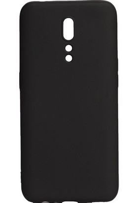 Tekno Grup Oppo Reno Z Kılıf Mat Premium Silikon Kılıf - Siyah + Nano Ekran Koruyucu