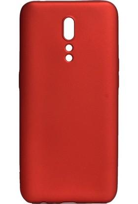 Tekno Grup Oppo Reno Z Kılıf Mat Premium Silikon Kılıf - Kırmızı + Nano Ekran Koruyucu