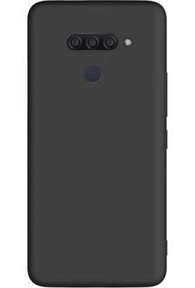 Tekno Grup LG Q60 Kılıf Mat Premium Silikon Kılıf - Siyah + Tam Kaplayan 6D Nano Ekran Koruyucu