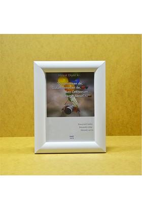 Hediyelik Çerçeve Dekorasyon Kişiye Özel Resim Çerçevesi Mdf-Baskı-Ev-Ofis-Okul-Doğumgünü-15x21 Çerçeve Beyaz
