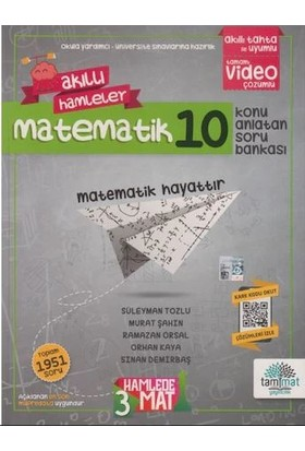 Tammat Yayıncılık 10. Sınıf Matematik Konu Anlatan Soru Bankası Video Çözümlü