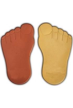 Sun Pigments Dekoratif Plastik Çimtaşı Kalıbı Çim Taşı Ayak Sol 5'li