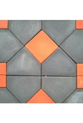 Sun Pigments Dekoratif Plastik Yer Döşeme Parke Taşı Kalıbı Antik Zarf 45 cm 10'lu