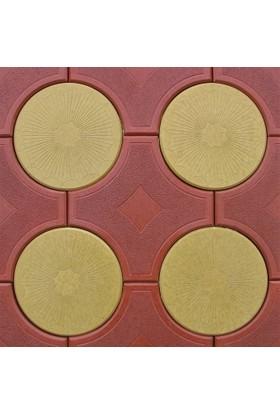 Sun Pigments Dekoratif Plastik Yer Döşeme Parke Taşı Kalıbı Deniz Yıldızı 45 cm 10'lu
