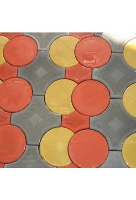 Sun Pigments Dekoratif Plastik Yer Döşeme Parke Taşı Kalıbı Prizma Ara Parça Yarım 45 cm 10'lu