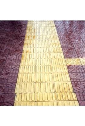 Sun Pigments Dekoratif Plastik Yer Karo Taşı Kalıbı Tretuar Çizgili Ama Taşı 6 cm 5'li