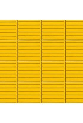 Sun Pigments Dekoratif Plastik Yer Karo Taşı Kalıbı Tretuar Çizgili Ama Taşı 8 cm 5'li