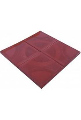 Sun Pigments Dekoratif Plastik Yer Karo Taşı Kalıbı Tretuar Dalga 25 cm 10'lu