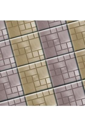 Sun Pigments Dekoratif Plastik Yer Karo Taşı Kalıbı Tretuar Gofret 25 cm 10'lu