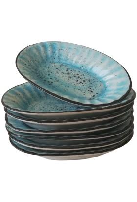 Evanilife Kayık Tabak Oval 17 cm Mavi