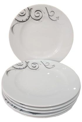 Güral Porselen 20 cm Ebatlarında Sami 02 Model 6 Adet Pasta Tabağı Takımı