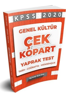 Benim Hocam 2020 Genel Kültür Çek Kopart Yaprak Test