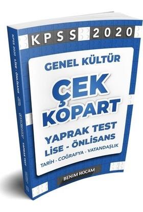 Benim Hocam KPSS 2020 Lise-Önlisans Genel Kültür Çek Kopart Yaprak Test