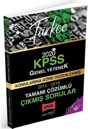 Yargı Yayınevi 2020 KPSS Türkçe Konularına Göre Düzenlenmiş Tamamı Çözümlü Çıkmış Sorular