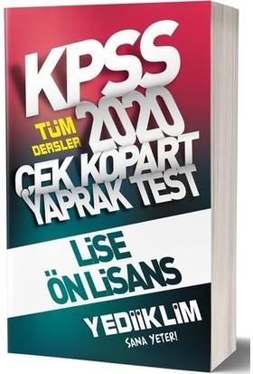 Yediiklim Yayınları 2020 KPSS Lise-Önlisans Tüm Dersler Çek Kopart Yaprak Test