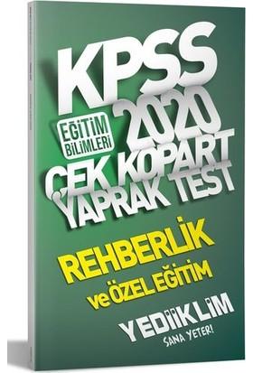 Yediiklim Yayınları 2020 KPSS Eğitim Bilimleri Rehberlik Ve Özel Eğitim Çek Kopart Yaprak Test