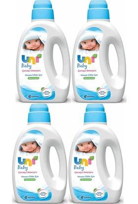 Uni Baby Çamaşır Deterjanı Hassas Ciltler Için 1800 ml 4 Lü Paket