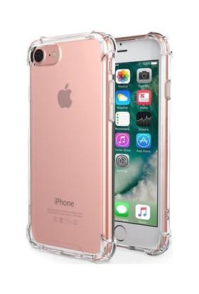 Eretna Apple iPhone 8 Köşeli Silikon Kılıf - Şeffaf