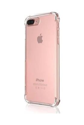 Eretna Apple iPhone 7 Plus Köşeli Silikon Kılıf - Şeffaf