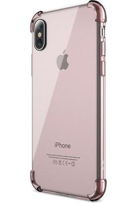 Eretna Apple iPhone XS Köşeli Silikon Kılıf - Şeffaf