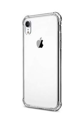 Eretna Apple iPhone XR Köşeli Silikon Kılıf - Şeffaf