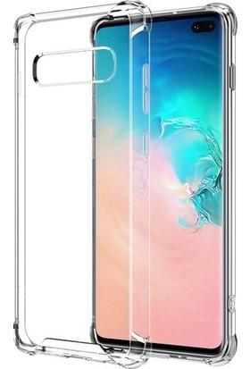 Eretna Samsung Galaxy S10e Köşeli Silikon Kılıf - Şeffaf