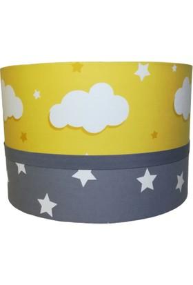 İnka Sarı Bulut Gri Yıldız Bebek Çocuk Odası Avize