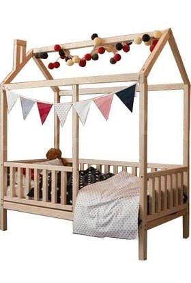 Köşk Mobilya Çatılı Montessori Yatak 90x190