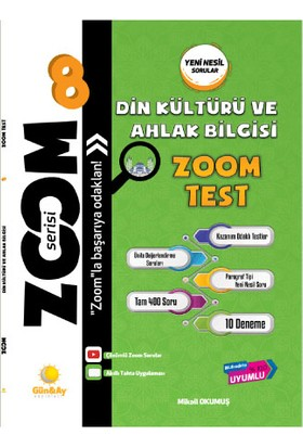 Günay Yayınları 8.Sınıf Zoom Serisi Soru Bankası Din Kültürü Ve Ahlak Bilgisi